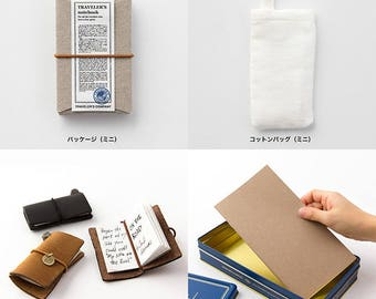 Traveler's Notebook Mini 10th Anniversary Can Set Limited-edition Camel from Japan 15197006