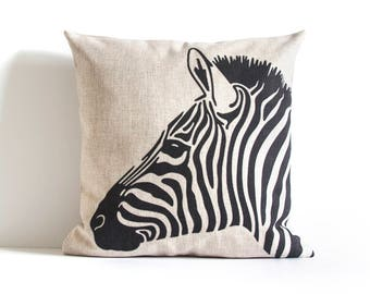 Zebra Pillow Cover, Striped Pillow Cover, Pillow Covers, Throw Pillow, Cushion Covers, Decorative Pillow Covers