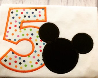 Mickey Mouse birthday shirt - Minnie mouse birthday shirt - Disney birthday shirt