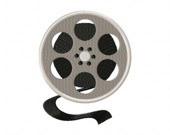 Film reel cameral embroidery design
