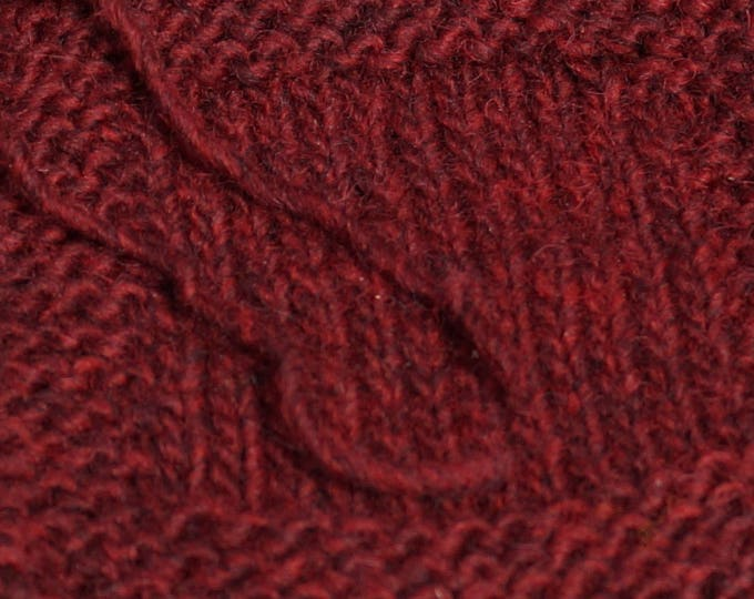 DEEP WOODS RED worsted weight double twist wool kettle dyed yarn from our farm