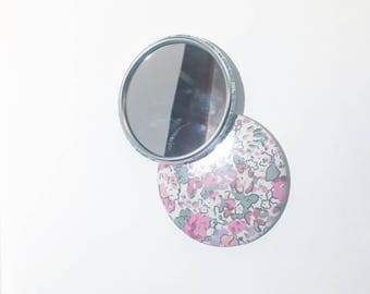 Claire aude Liberty 75mm Pocket mirror pink