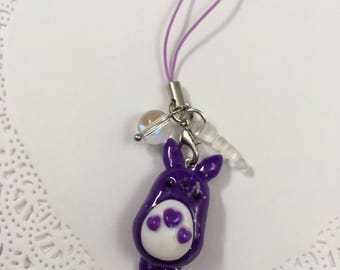 Opal Totoro Phone Strap with Dust Plug