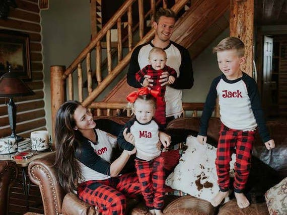 Buffalo check family pajamas