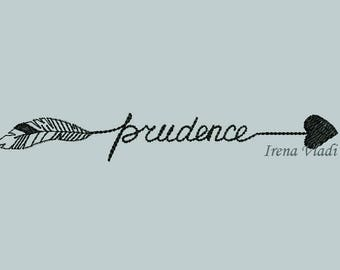 2 Designs Prudence With Arrow Embroidery Design Arrow Embellishment Fill Stitch Embroidery/3 sizes/Instant Download 4x4 5x7hoop, arrows
