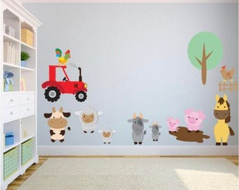 Farm Animals Theme Kids Wall Decals   Farm Animals Kids Wall Stickers   Kids  Wall Art Part 92