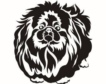 Pekingese #2 Dog Breed K-9 Animal Pet Hound Lab Puppy Logo .SVG .EPS .PNG Instant Digital Clipart Vector Cricut Cut Cutting Download File