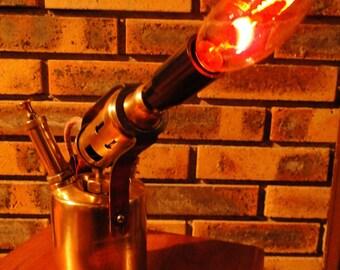 Steampunk factory lamp