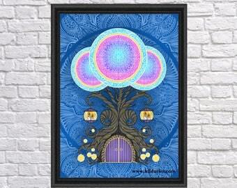 Door of opportunities, Digital Art Print, Bohemian, INSTANT DOWNLOAD, Digital Download, Gallah Wall Art Digital