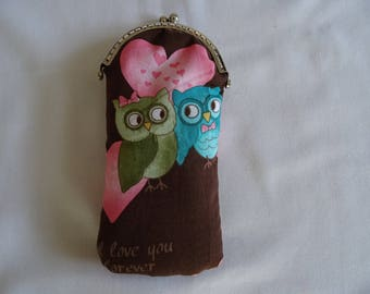 girls owls glasses case