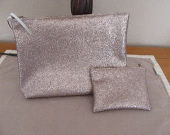 cover and matching wallet in faux zipper