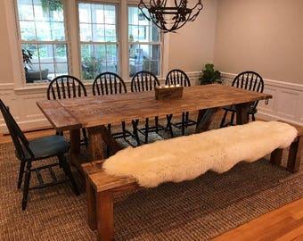 Rustic Farmhouse Table, Large Farm Table, Farmhouse Table, Dining Room Table,  Long