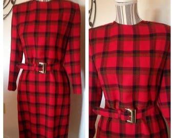 On Sale Vintage 80's Henry Lee Petites Plaid Dress