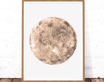 Planet Print, Space Art, Venus Poster, Venus Printable, Venus Decor, Space Print, Planet Poster, Planet Printable,Planet Wall Art,Planet Art