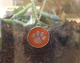 Clemson jewelry, Tigers necklace, college necklace, college jewelry