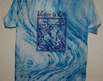 Water Is Life Original Design print on T shirts