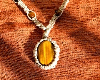 Wrapped Tigers Eye Necklace