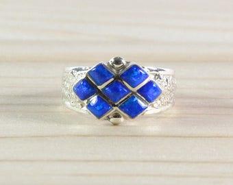 Women ring, Opal, Native American ring, Silver 925/1000, Zuni ring, size 58 Size 8 1/2