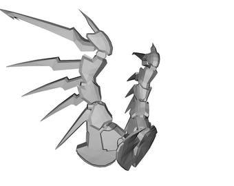 Full Scale Mercy Devil Wings Overwatch 3D Printed Prop