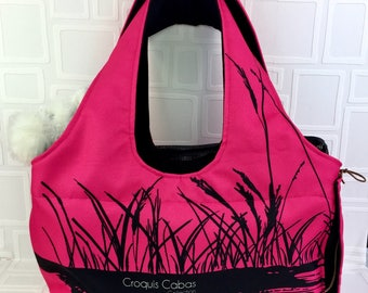 Carry bag for dog rose/travel bag for dog/bag pink/sturdy and washable/pink dog