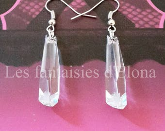 Earrings Silver earrings with swarovski crystal drops