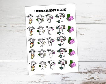 Bills | Miki Character | Planner Stickers