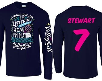 In My Head, I'm Playing - Volleyball Long Sleeve T-shirt