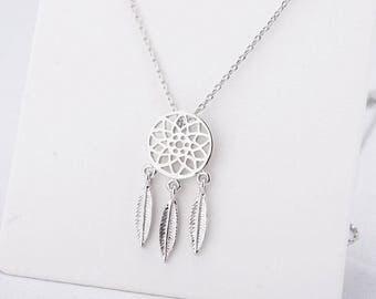 Small Dainty Dreamcatcher Necklace | Minimalist Pendant Dreamcatcher Jewelry Dreamcatcher Native American Necklace Native American Jewelry