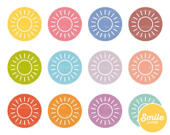 Sun Round Icon for Commercial Use   0332