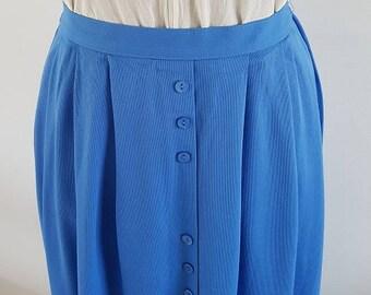 Pretty sky blue pleat skirt | St Michael | UK Size 14