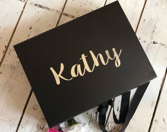 Luxury A4 size gift box, Bridesmaid box, Brides box, Gift box, Birthday box, New baby box, Baby shower box, Keepsake box, Memory box. hamper