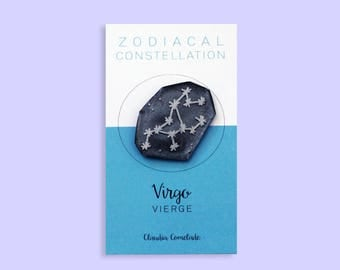 constellation of the Zodiac - Virgin brooch