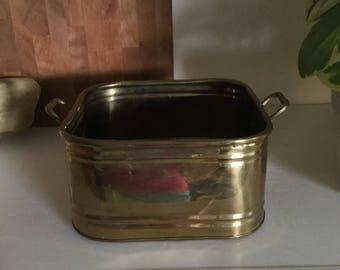 Square Brass Pot