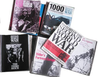 Vintage 50+ History of the Second World War Magazines // WWII // History Gift // Gifts for him