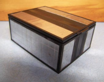 Vintage chromium plated mirrored box