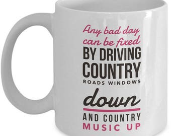 Funny Country Music Coffee Mug - Country Music Gift Cup For Women Or Men Country Music Lovers - Country Music Fan Present