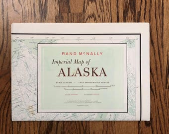 Vintage Commemorative map of ALASKA Our New Frontier 1958 Wall Map & Photo Display 48 x 34 Rare and Like New
