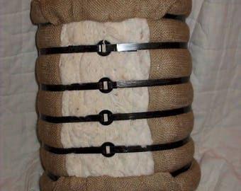 Replica cotton bale footstool