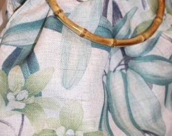 Linen handles Tote