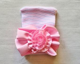 Newborn Beanie,Newborn Hat,Infant Beanie,Infant Hat,Baby Beanie,Baby Hat,Girls,Gift,Photo Shoot,Accessories,Beanie,Large Bow,Hospital Hat