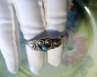 Vintage Bell Trading Company Nickel Silver Infant's Cuff Bracelet