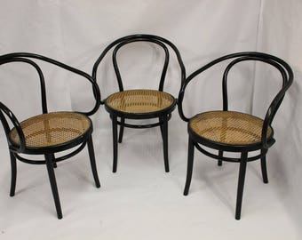 3 1900 Thonet bentwood Bistro chairs
