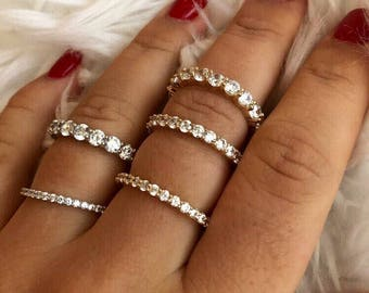 Sale** 14K SOLID Gold Eternity Band With AAA CZ 14K Weddings Bands. Eternity Band. Diamond Eternity Ring. 1.5mm 2mm 2.5mm .