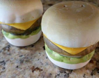 Vintage Salt and Pepper Cheeseburger set.