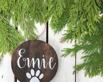 Rustic Personalised Wooden Christmas Baubles