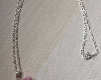 Chain and Silver 925 Swarovski flower pendant