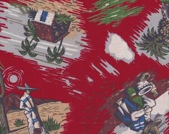 Robert Kaufman Fabric, Southwest/Mexico Print, 1/2 yard