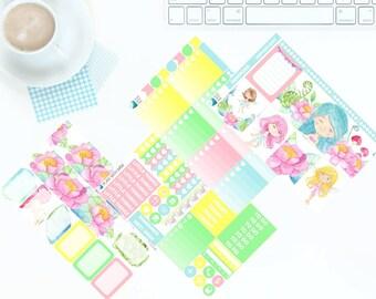 Flower Fairies - Weekly Kit Stickers for Erin Condren Vertical LifePlanner