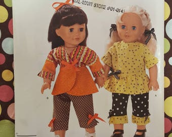 """Simplicity Crafts 2086 Clothes for an 18"""" Doll New uncut Free shipping!"""