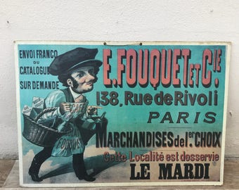Vintage French Poster PARIS advertising firm chocolate coffee FOUQUET 17011826